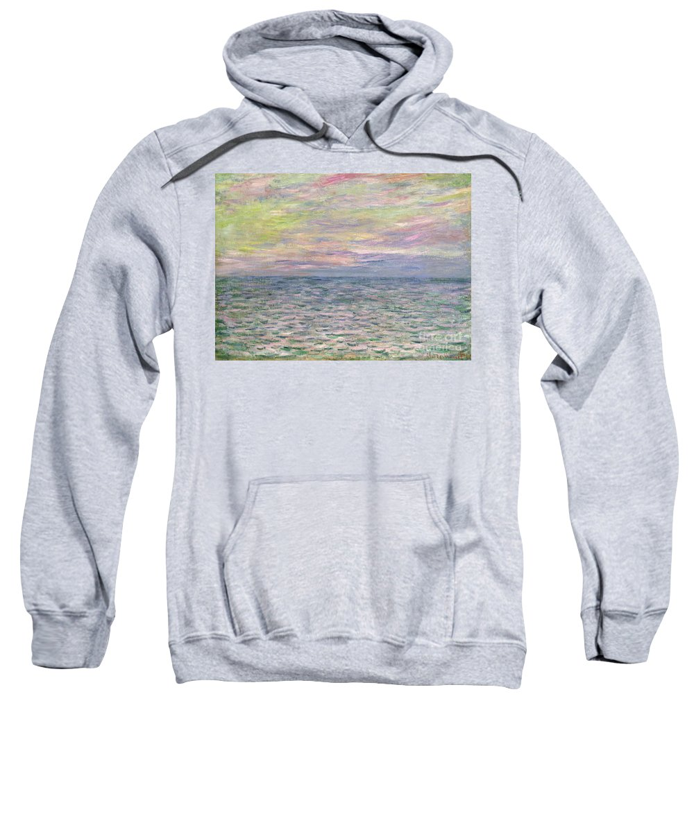 French Sweatshirt featuring the painting On The High Seas by Claude Monet