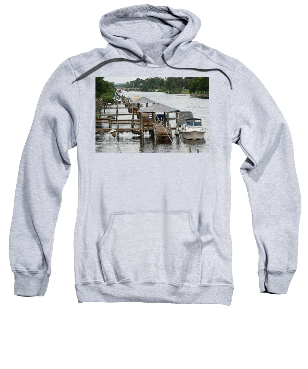 Boats Sweatshirt featuring the photograph On The Hillsboro Canal by Rob Hans