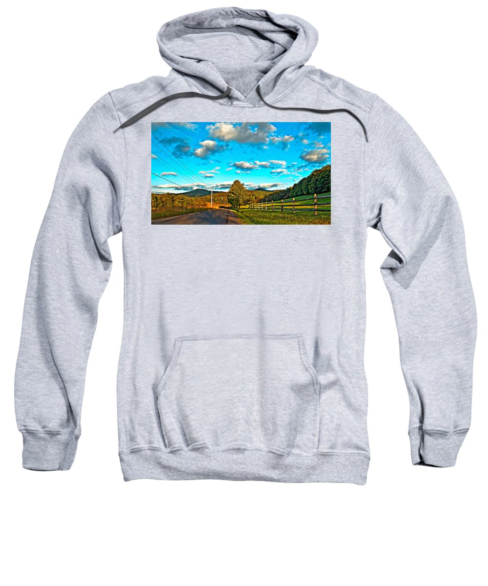 Landscape Sweatshirt featuring the photograph On The Road In Wv by Steve Harrington