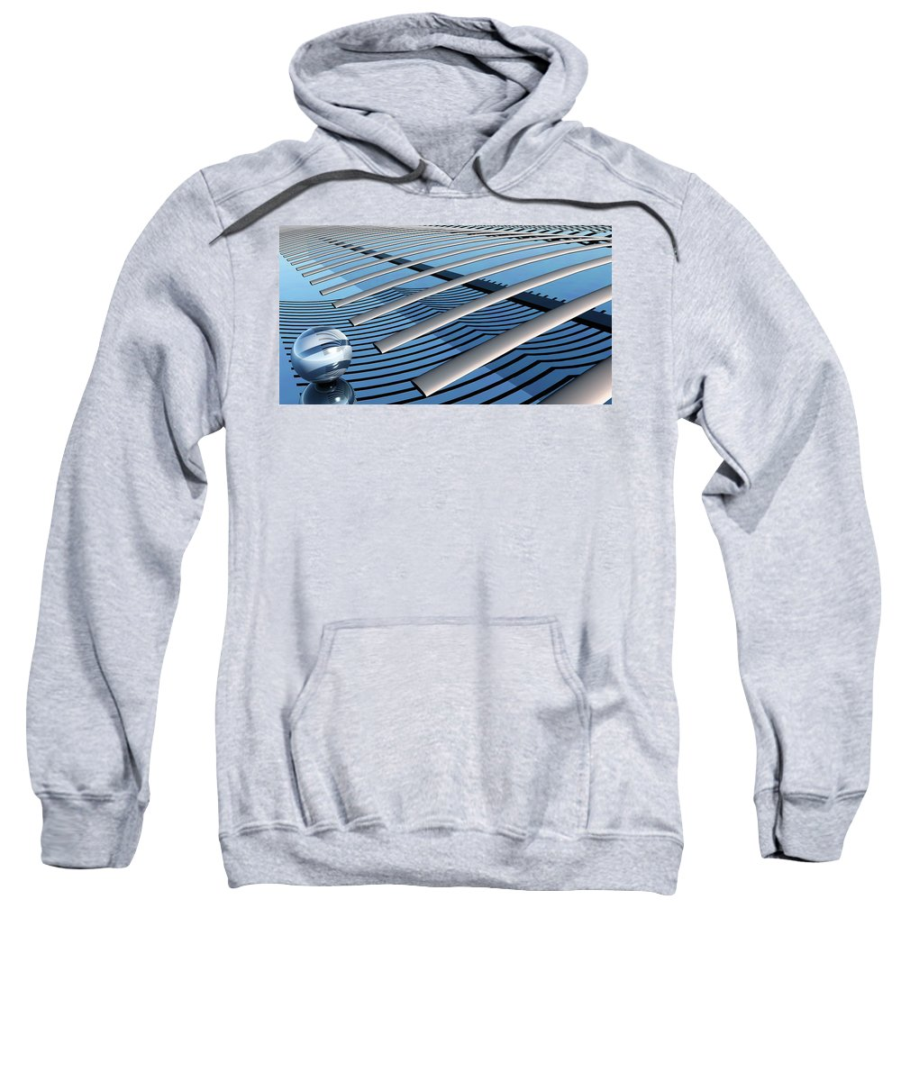 Abstract Sweatshirt featuring the digital art On The Verge by Richard Rizzo