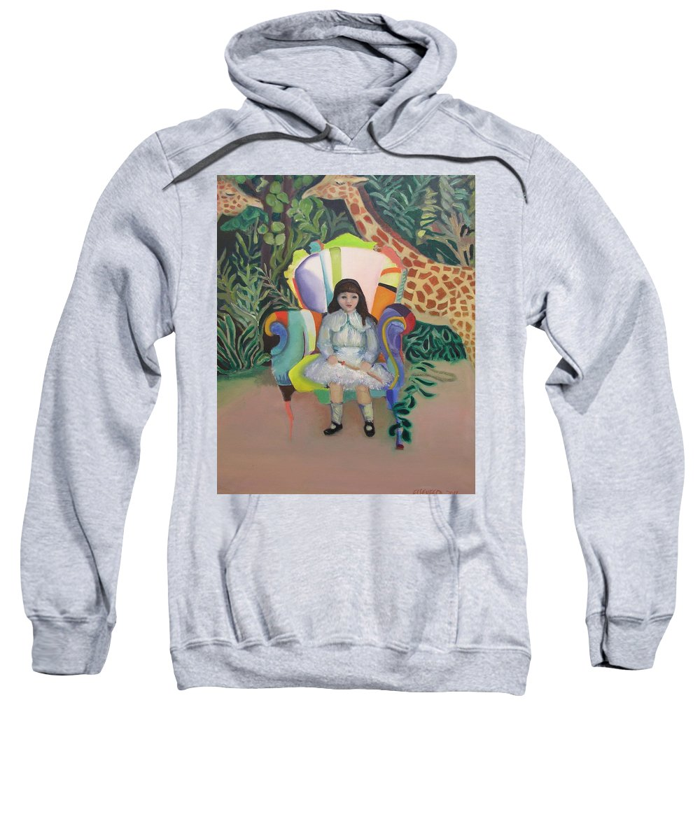 Girl Sweatshirt featuring the painting On The Wild Side by Gail Eisenfeld