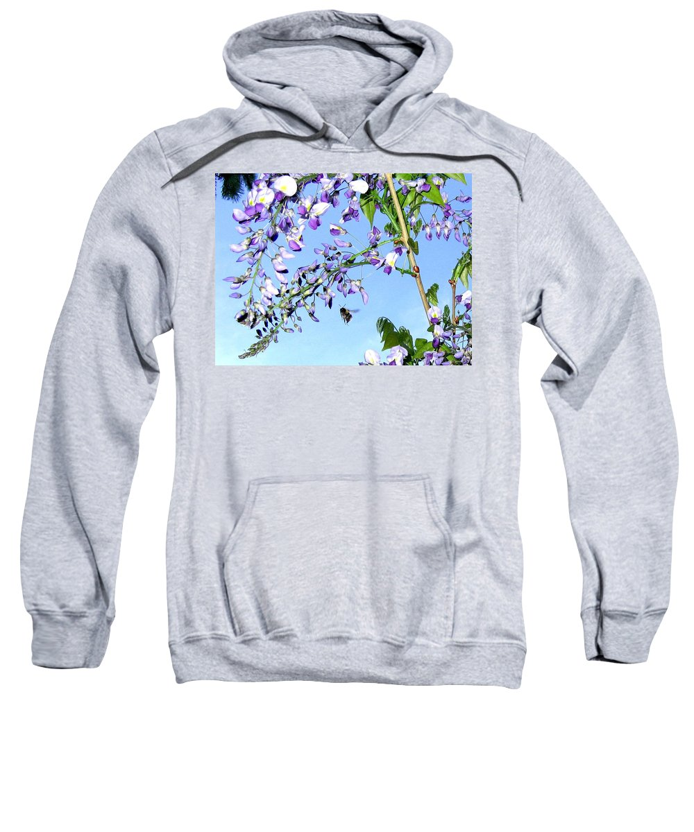 Honeybee Sweatshirt featuring the photograph On The Wing by Will Borden