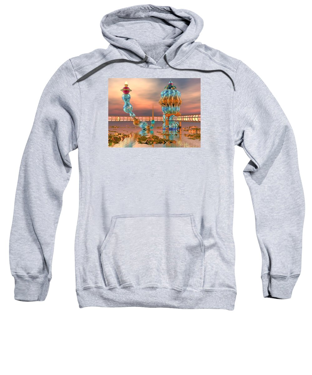 Landscape Sweatshirt featuring the digital art On Vacation by Dave Martsolf
