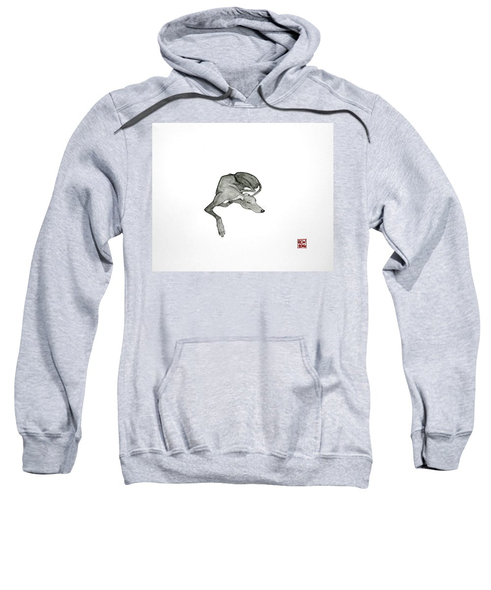 Dogs Sweatshirt featuring the painting On Watch by Richard Williamson