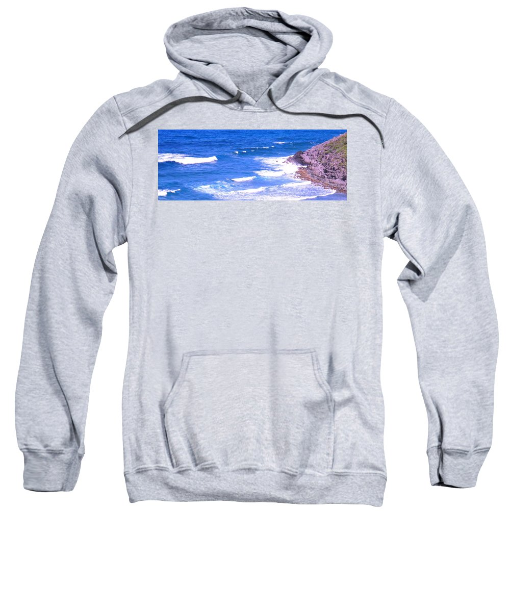 Atlantic Sweatshirt featuring the photograph One After Another by Ian MacDonald