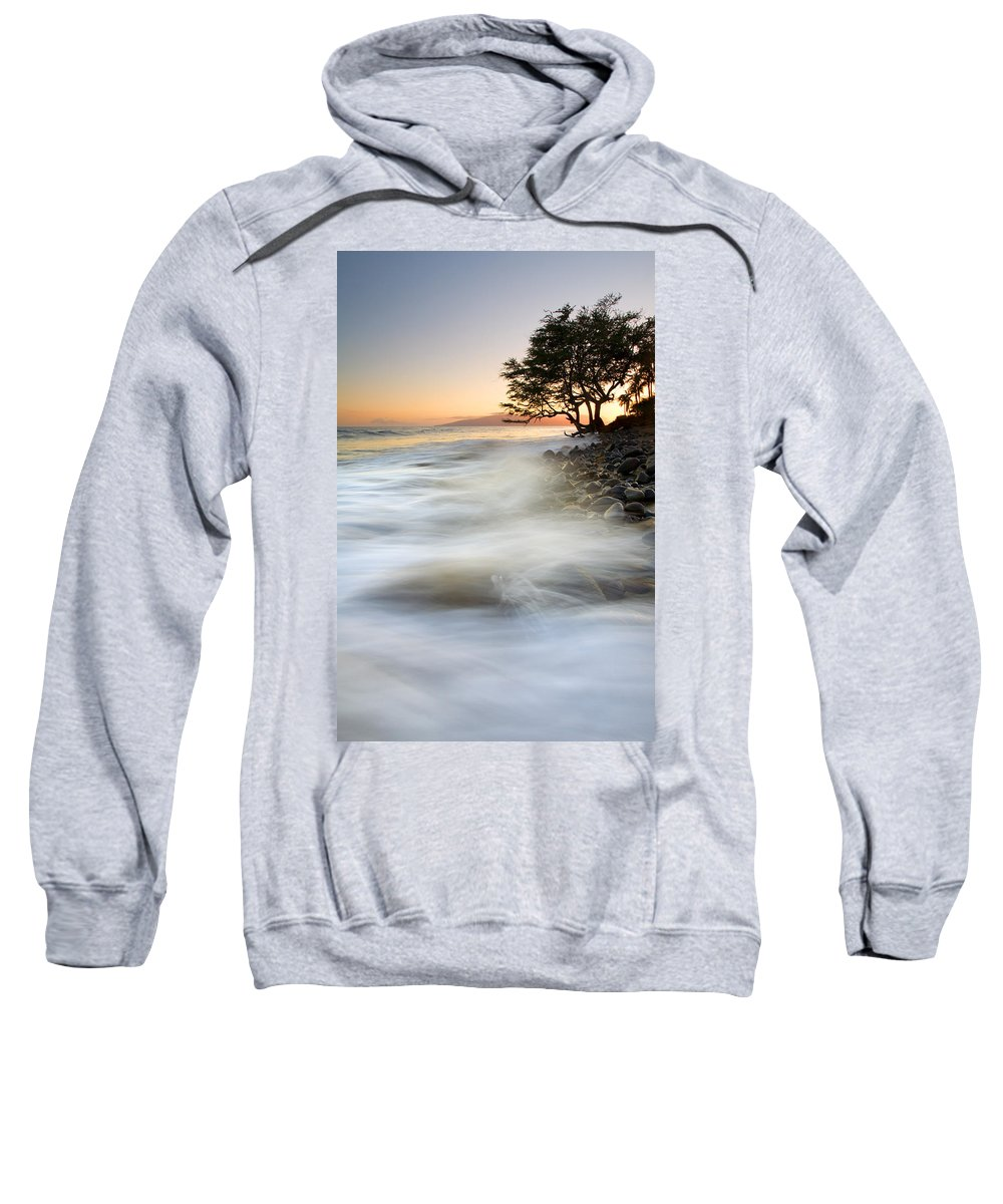 Sunset Sweatshirt featuring the photograph One Against The Tides by Mike Dawson