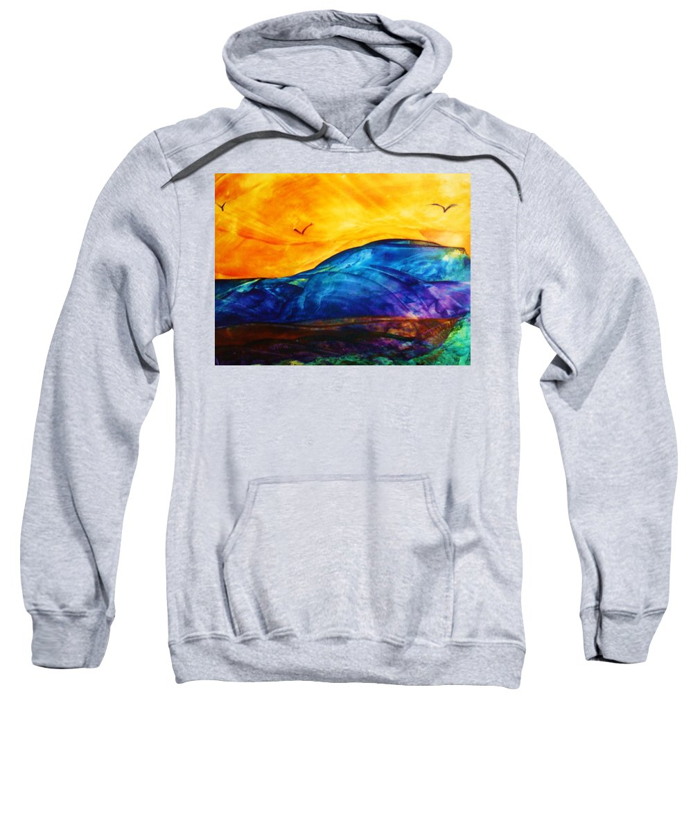 Landscape Sweatshirt featuring the painting One Fine Day by Melinda Etzold