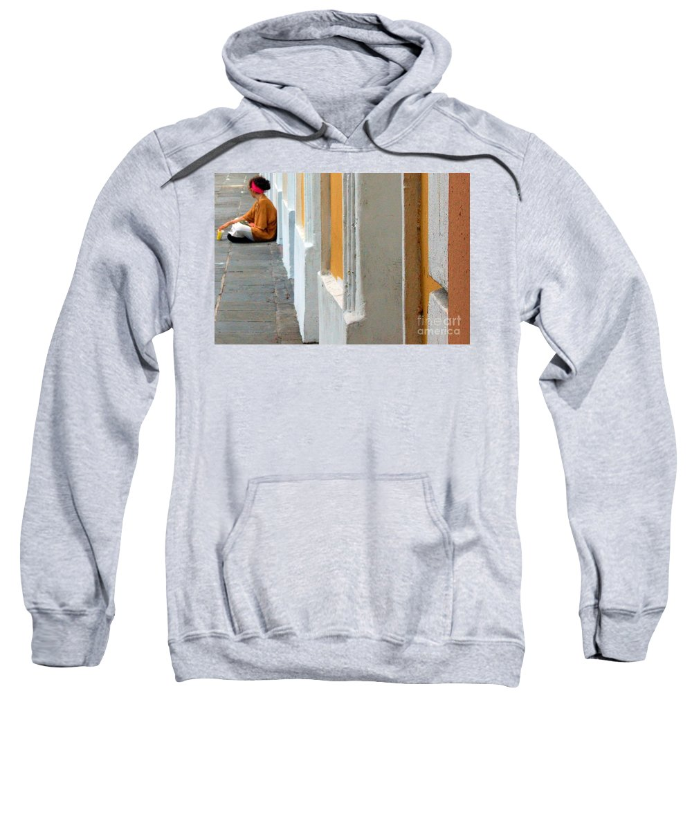 Sidewalk Sweatshirt featuring the photograph One Is The Loneliest Number by Debbi Granruth
