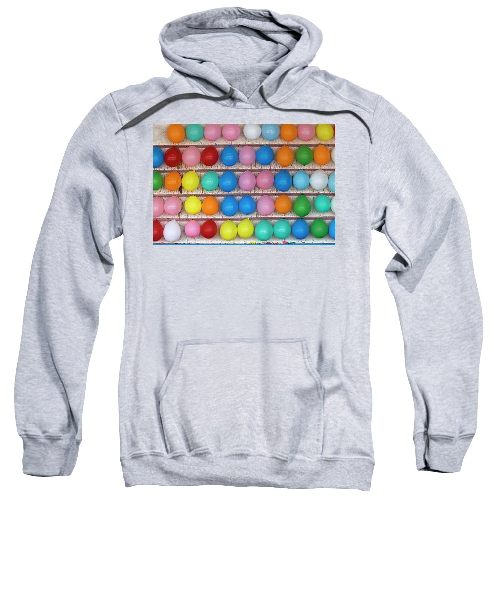 Balloons Sweatshirt featuring the photograph One Missing by Miroslav Vrzala