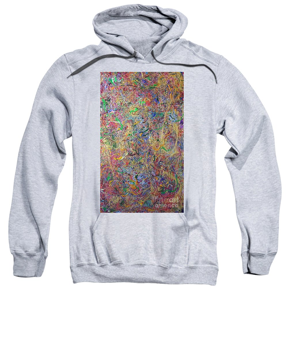 One Moment In Time Sweatshirt featuring the painting One Moment In Time by Dawn Hough Sebaugh
