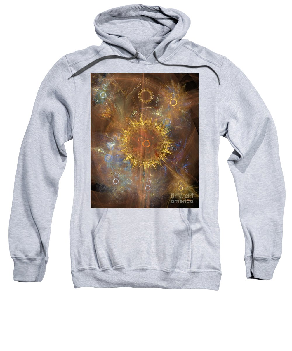 One Ring To Rule Them All Sweatshirt featuring the digital art One Ring To Rule Them All by John Beck