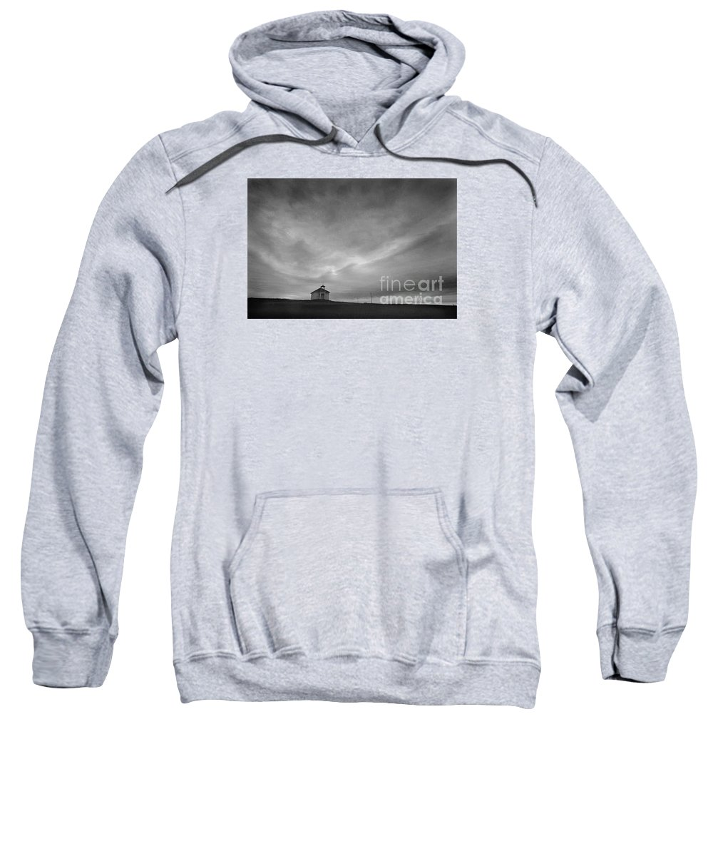 Landscape Sweatshirt featuring the photograph One Room Schoolhouse by Michael Ziegler