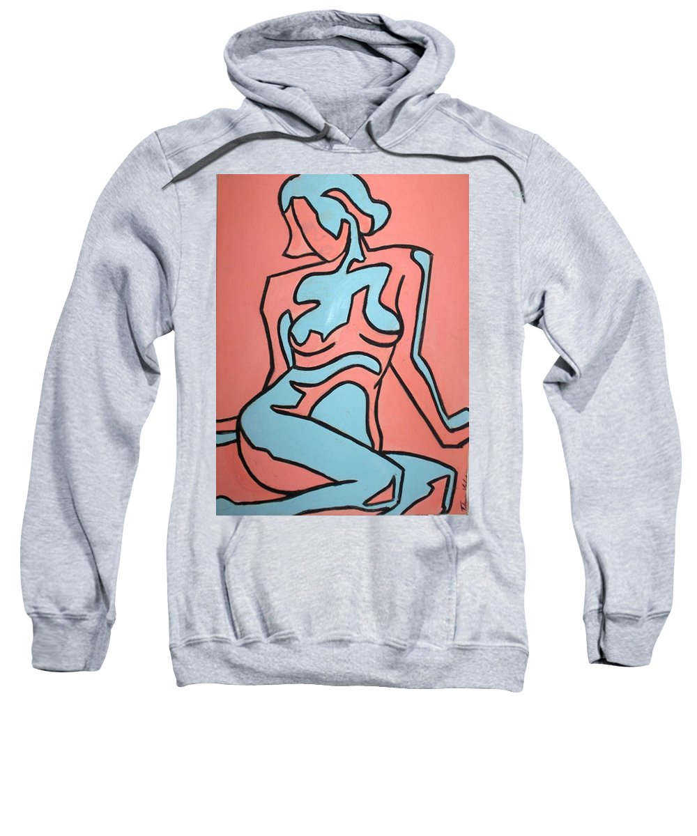 Women Sweatshirt featuring the painting One by Thomas Valentine