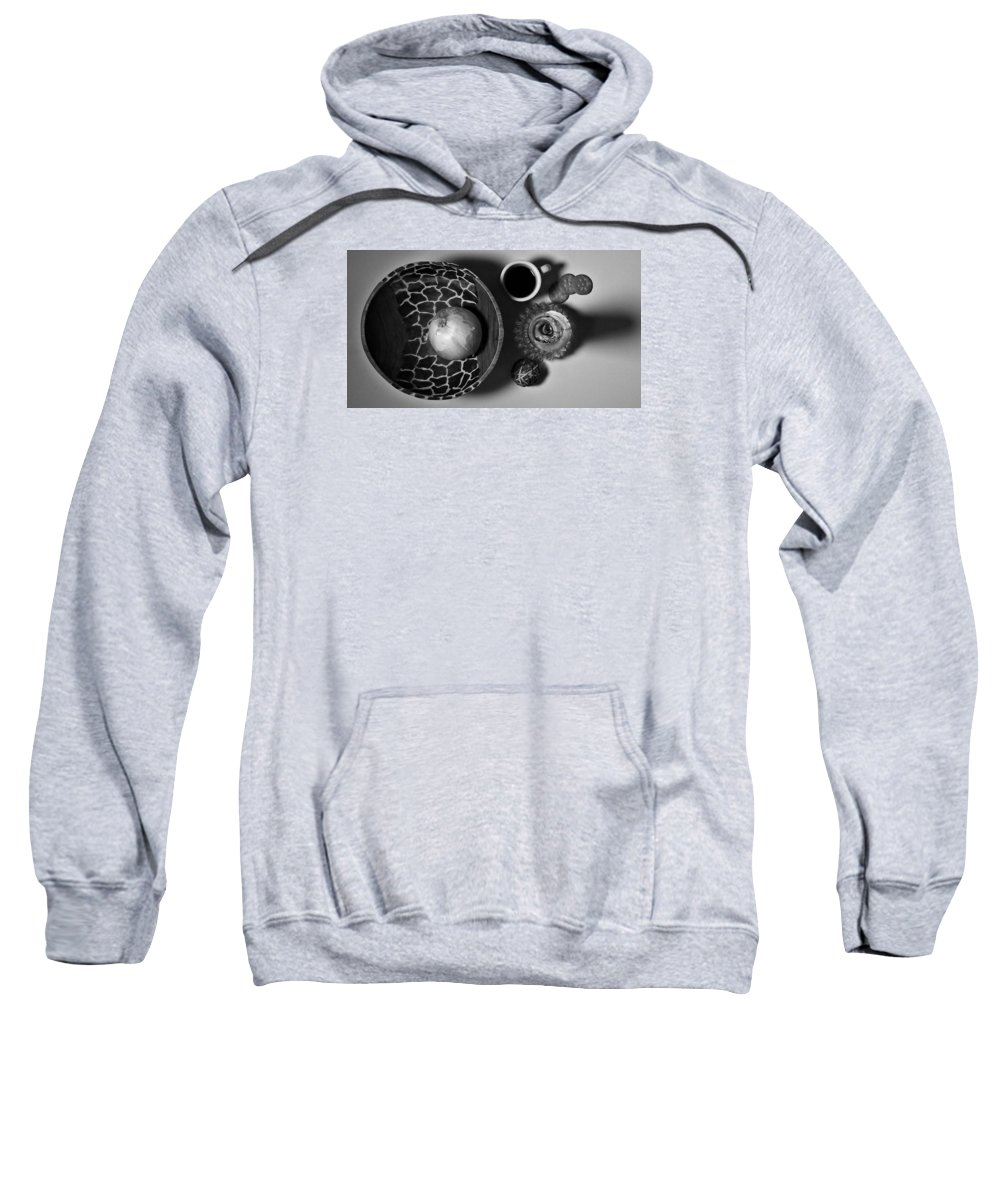 Black And White Sweatshirt featuring the photograph Stillaround by Michael Dillon