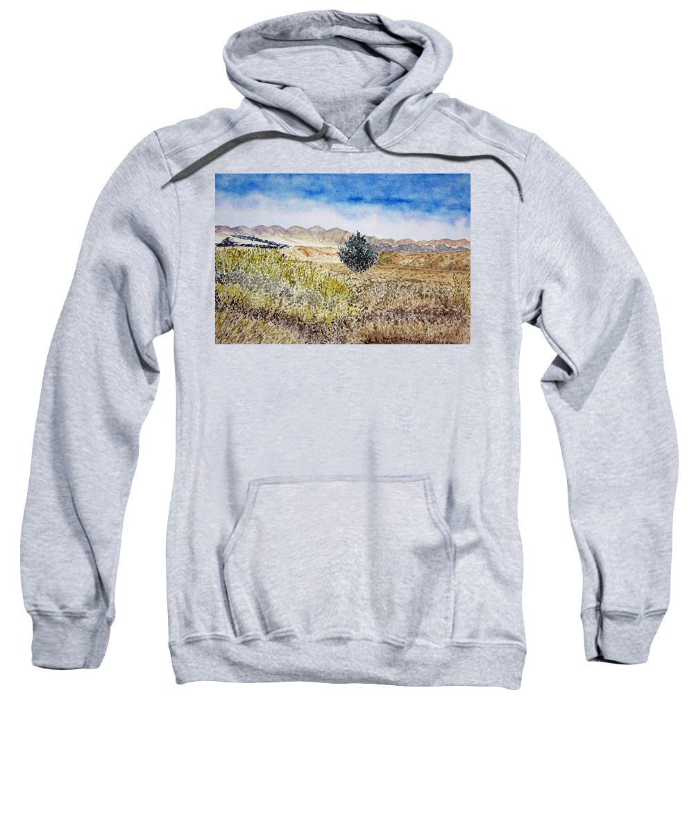 Desert Art Sweatshirt featuring the painting Onyo National Forest by Larry Wright