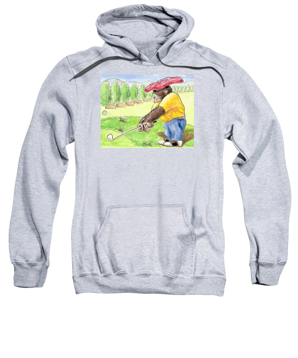 Golf Sweatshirt featuring the painting Oops by George I Perez