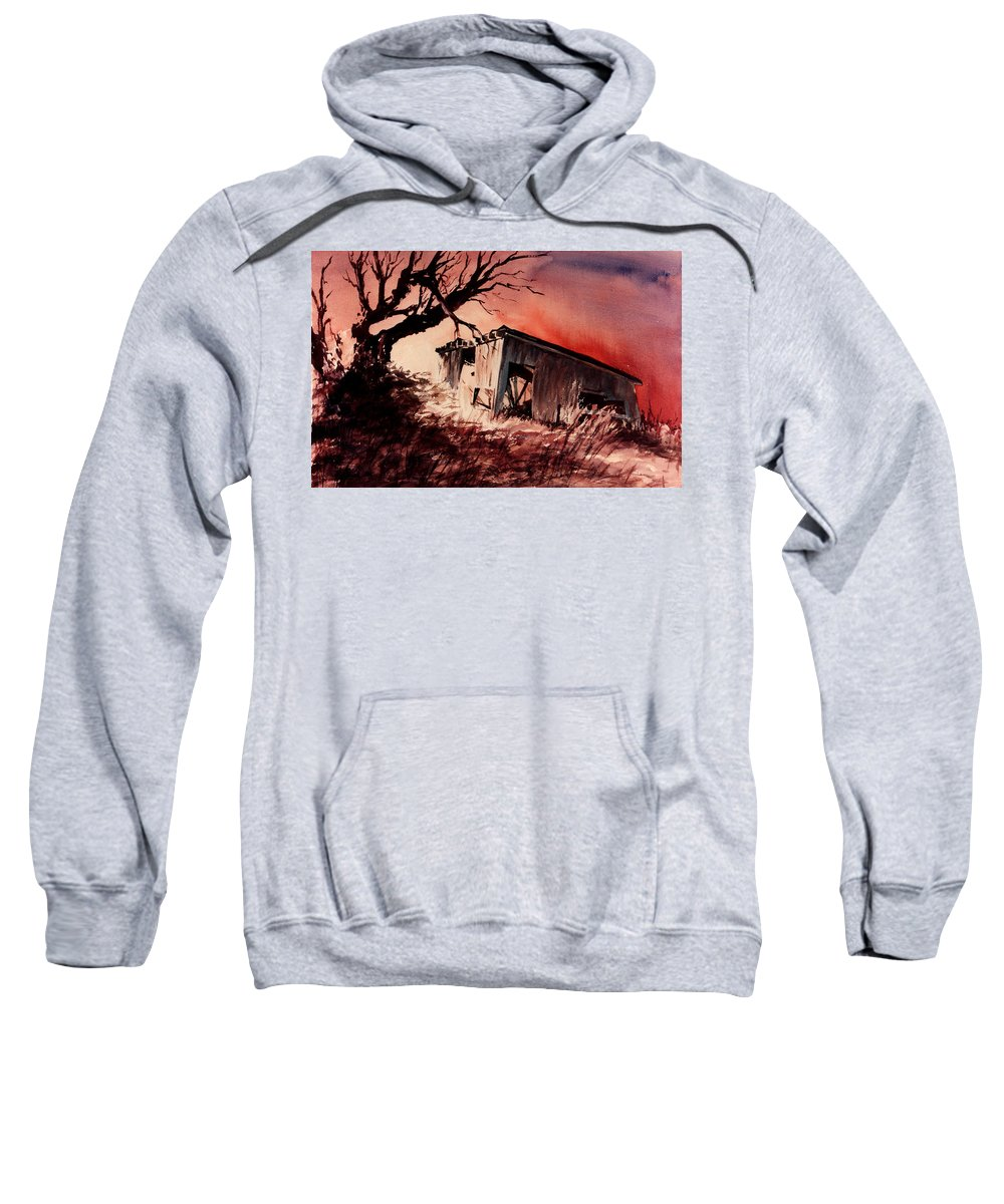 Landscape Sweatshirt featuring the painting Open House by Rachel Christine Nowicki