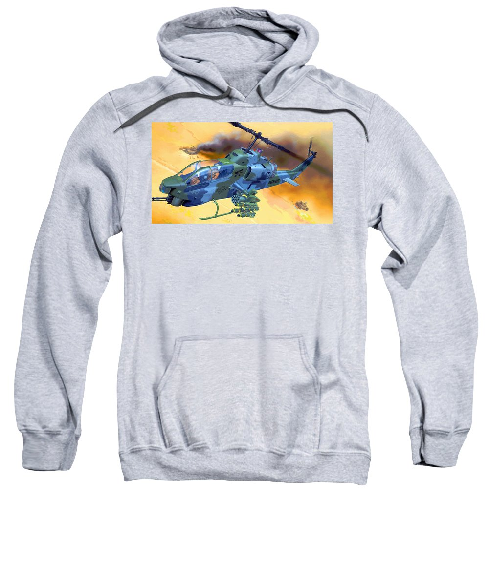 Decorative Sweatshirt featuring the digital art Operation Wolf by Don Kuing