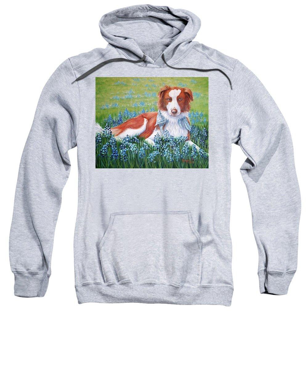 Fuqua Gallery-bev-artwork Sweatshirt featuring the painting Opie by Beverly Fuqua