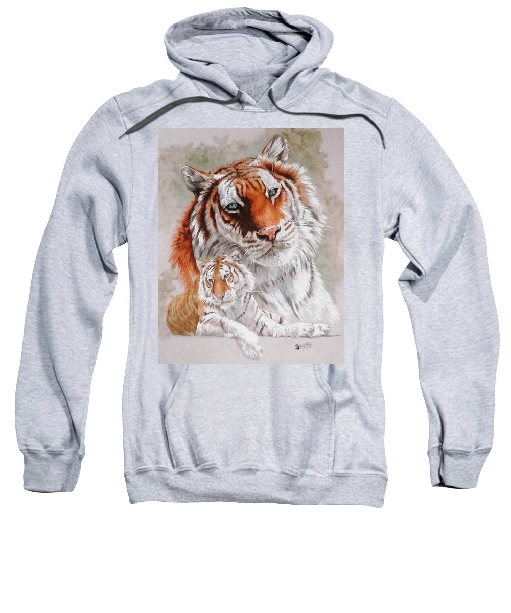 Wildcat Sweatshirt featuring the mixed media Opulent by Barbara Keith