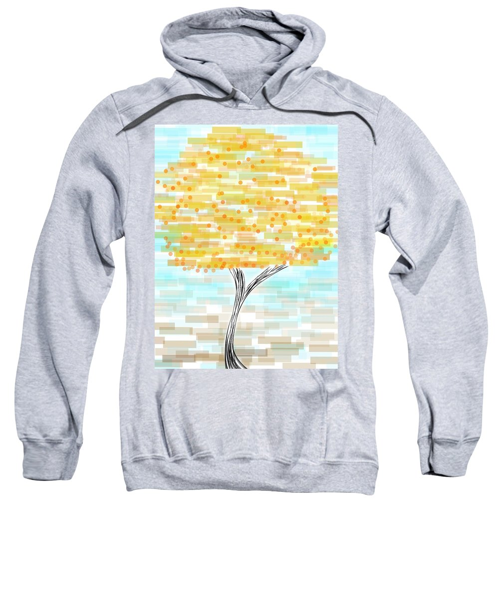 Orange Sweatshirt featuring the painting Orange Tree by Khushbu Bansor