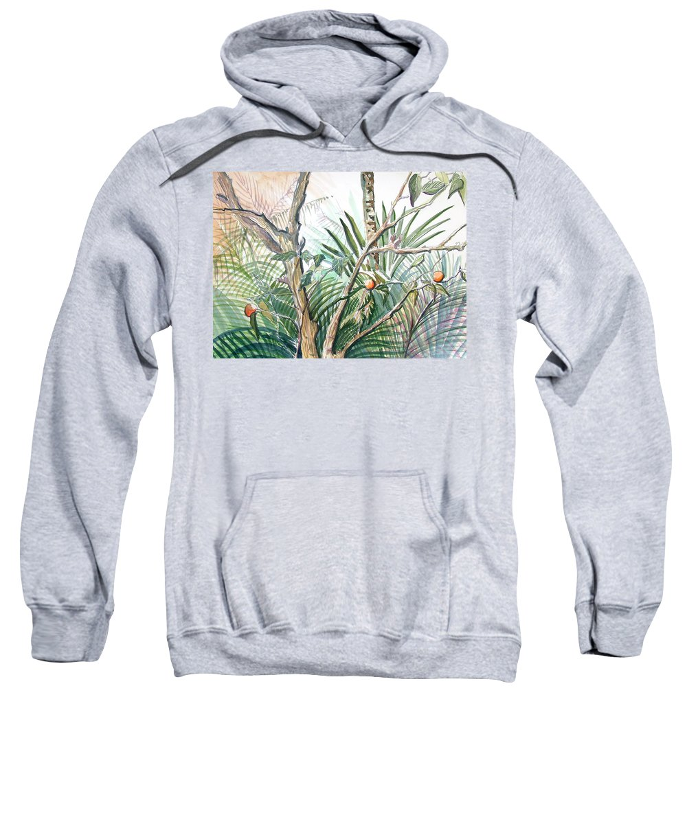 Fruit Sweatshirt featuring the painting Orange Tree by Mindy Newman