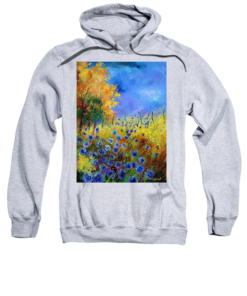 Flowers Sweatshirt featuring the painting Orange Trees by Pol Ledent