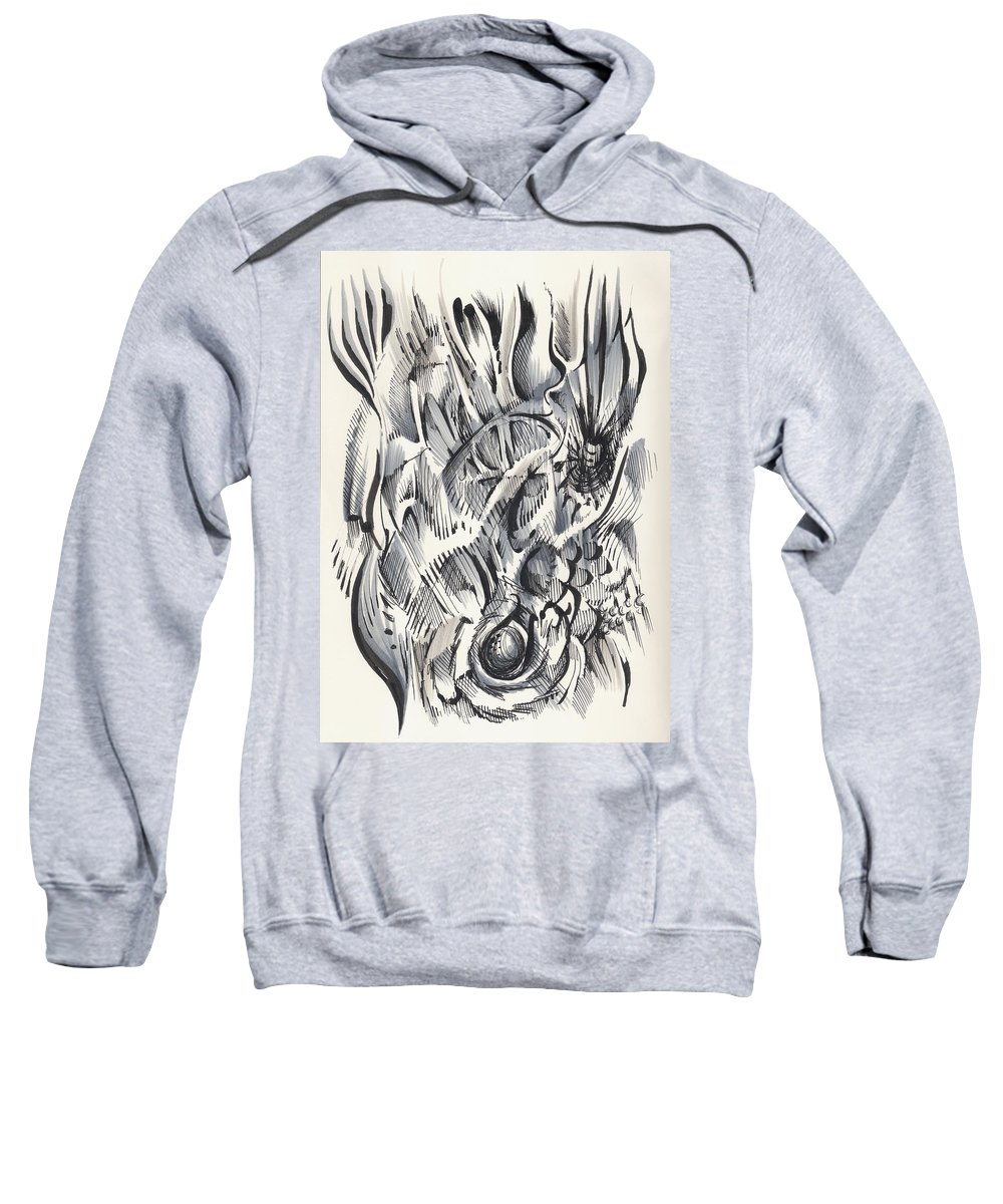 Pen And Ink Sweatshirt featuring the drawing Orbit by Keith A Link