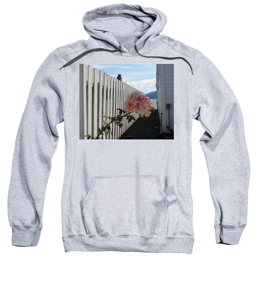 Rose Sweatshirt featuring the photograph Orcas Island Rose by Tim Nyberg