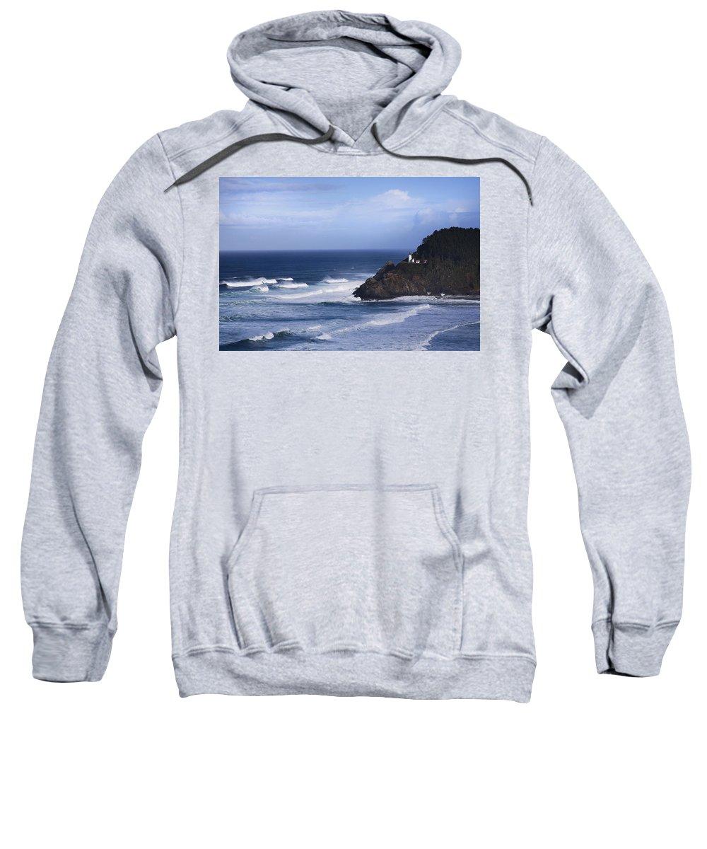Nature Sweatshirt featuring the photograph Oregon Lighthouse by John K Sampson