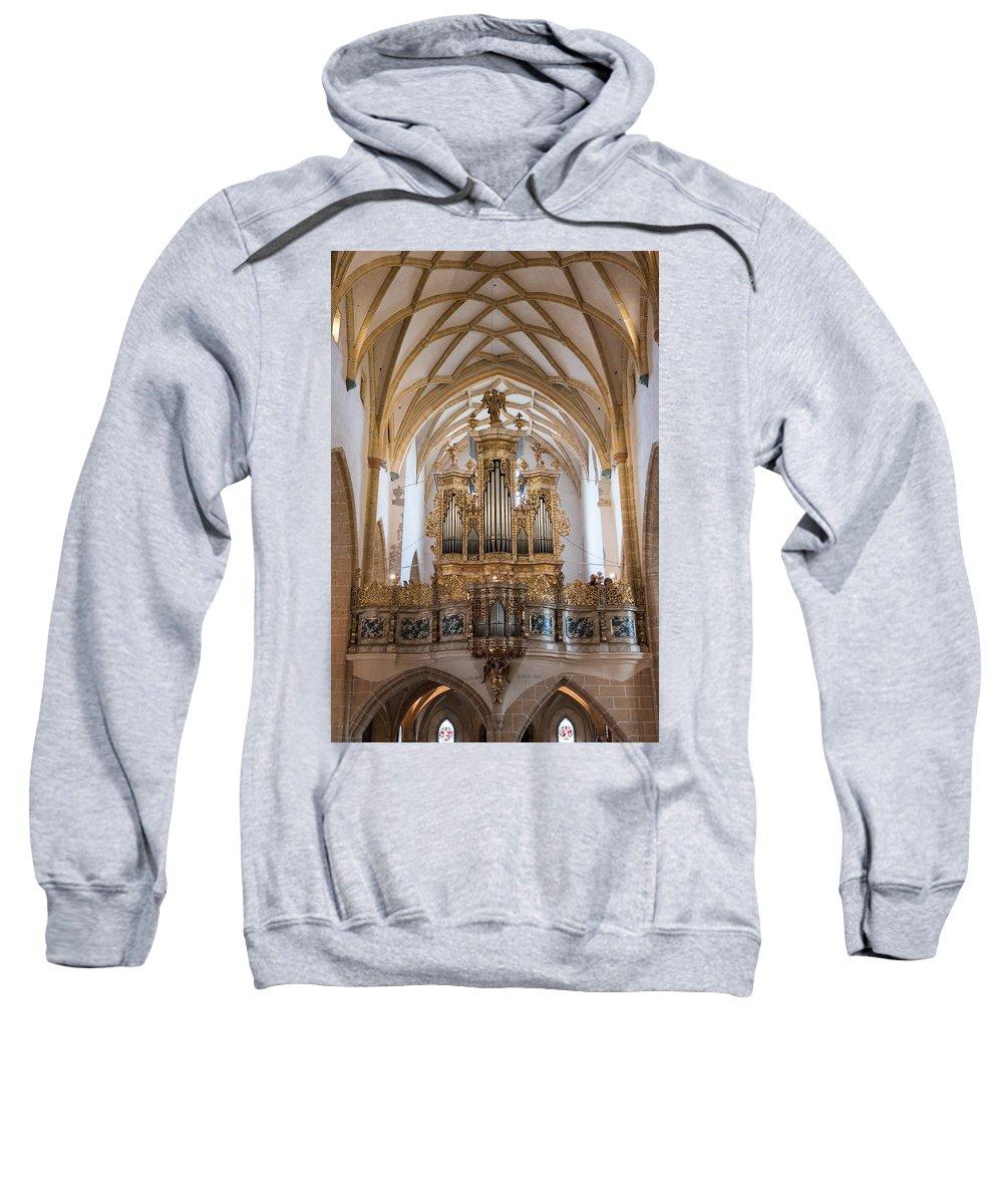 Church Sweatshirt featuring the photograph Organ Of The Gothic-baroque Church Of Maria Saal by Nicola Simeoni