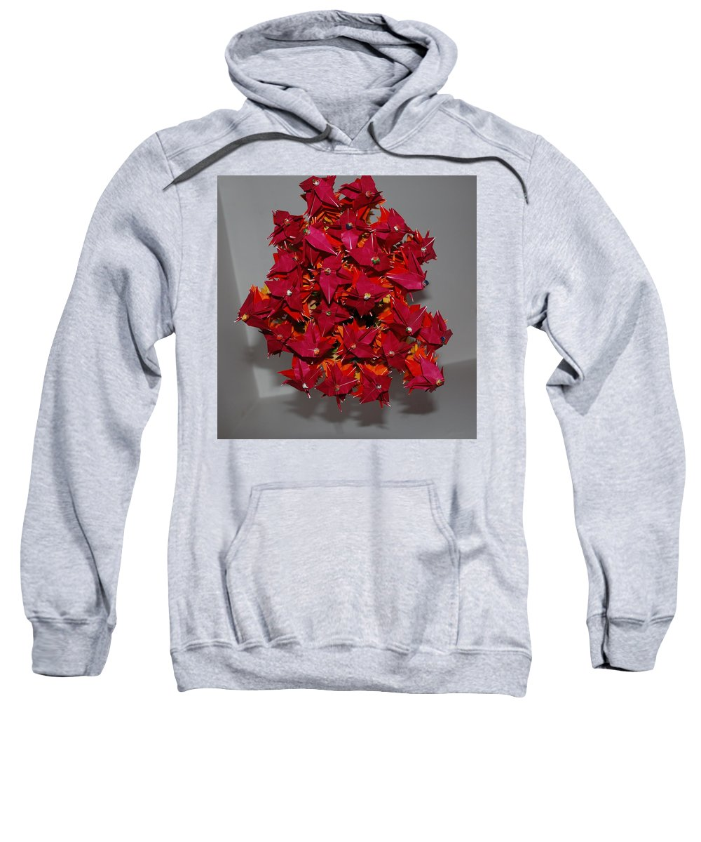Origami Sweatshirt featuring the photograph Origami Flowers by Rob Hans