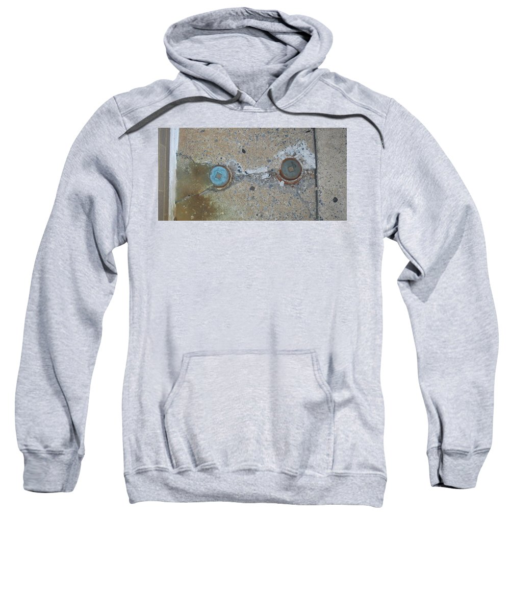 Photograph Sweatshirt featuring the photograph Original Damaged Pipes by Thomas Valentine