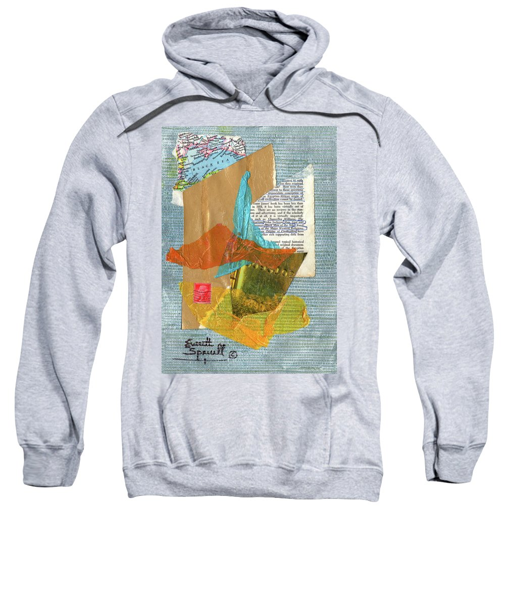 Everett Spruill Sweatshirt featuring the painting Origins Of Civilization by Everett Spruill