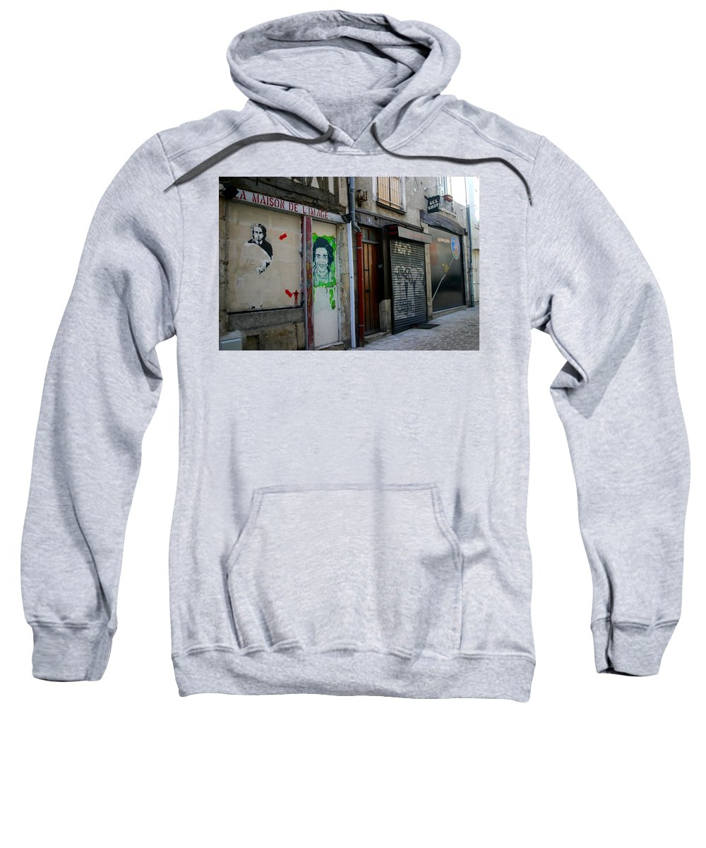 Alley Sweatshirt featuring the photograph Orleans France Alley by Minaz Jantz