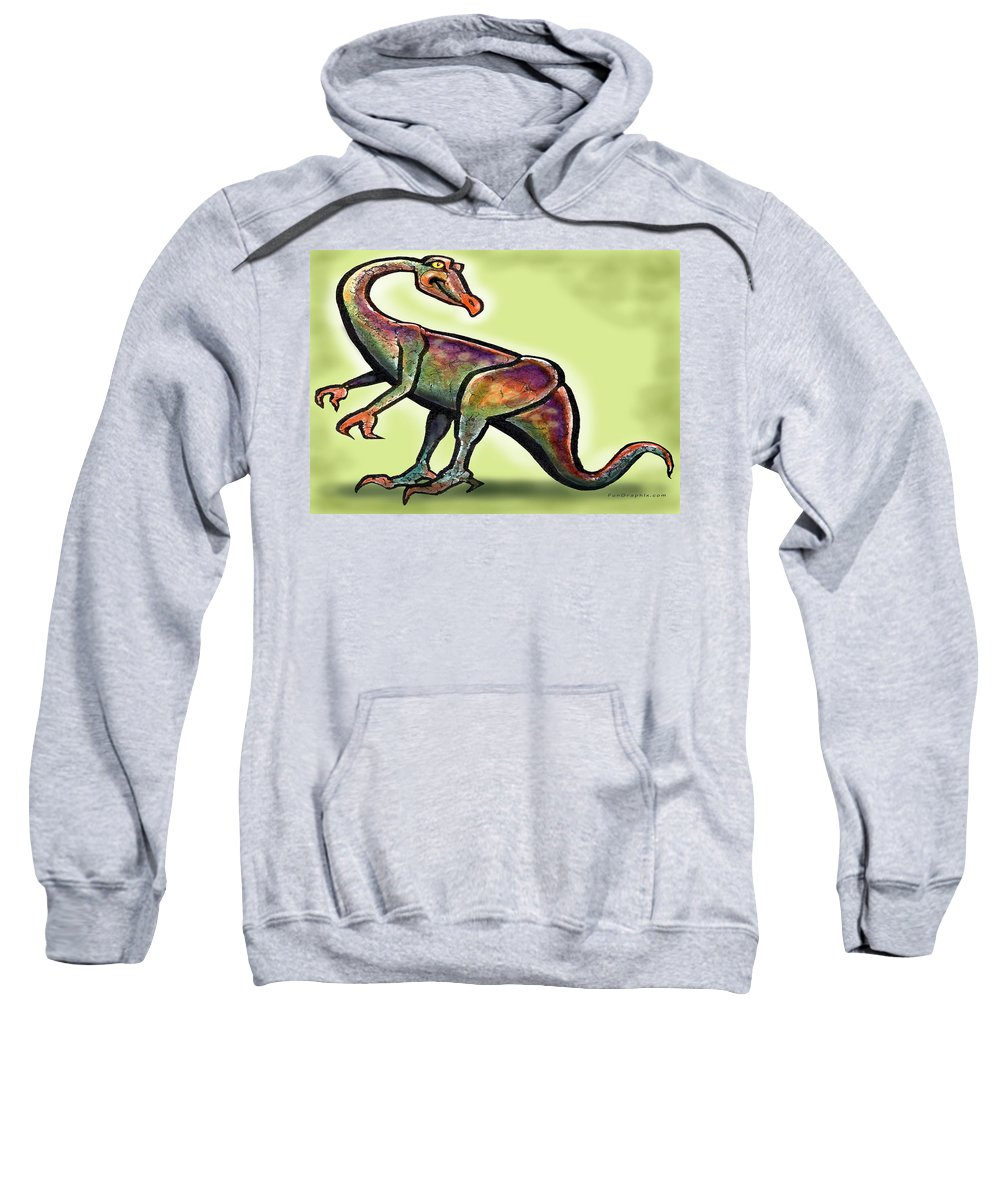 Ornithomimus Sweatshirt featuring the painting Ornithomimus by Kevin Middleton