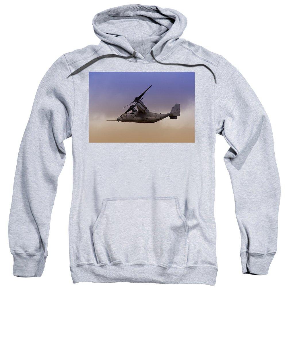 Advanced Sweatshirt featuring the photograph Osprey In Flight IIi by Ricky Barnard
