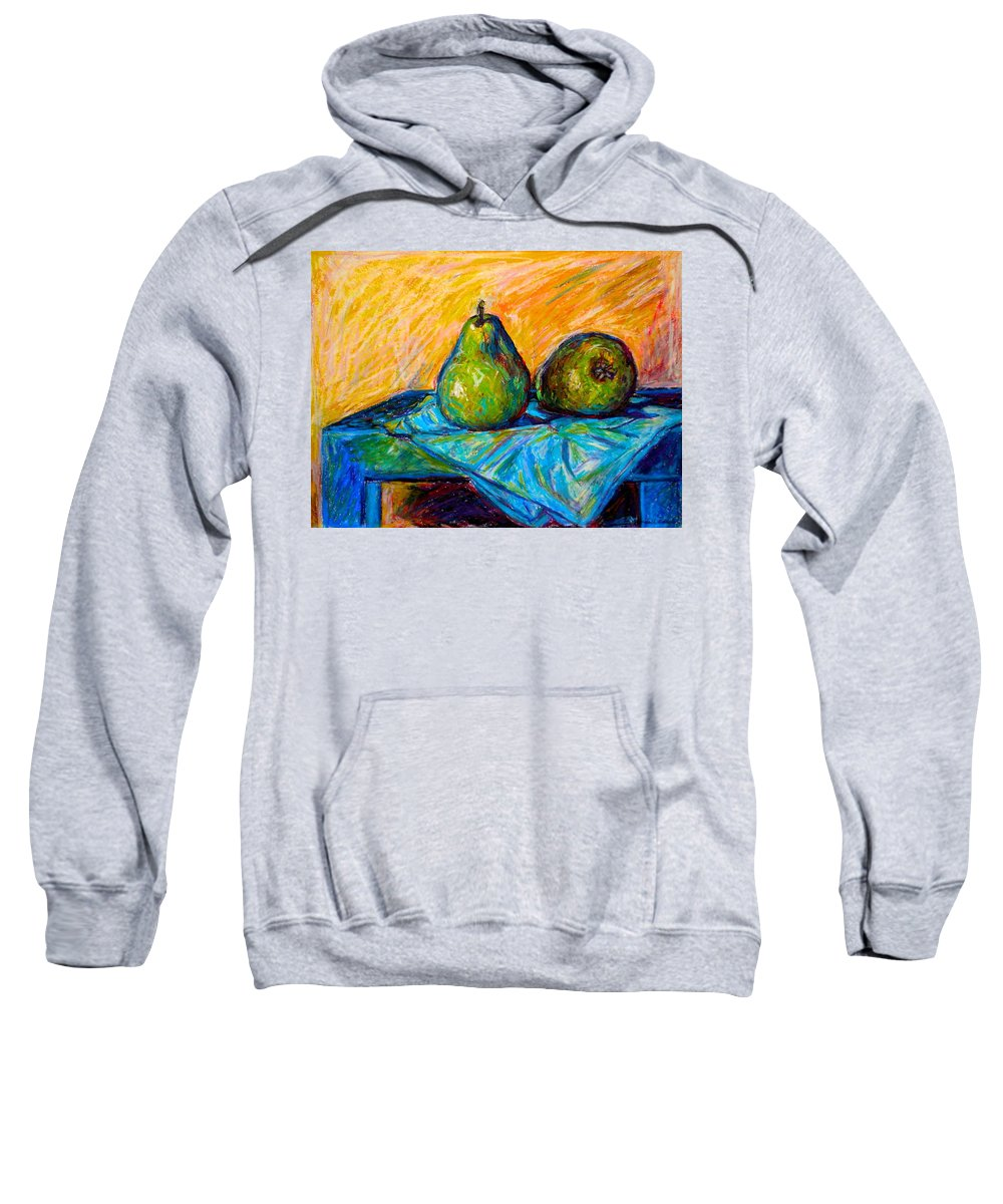 Still Life Sweatshirt featuring the painting Other Pears by Kendall Kessler