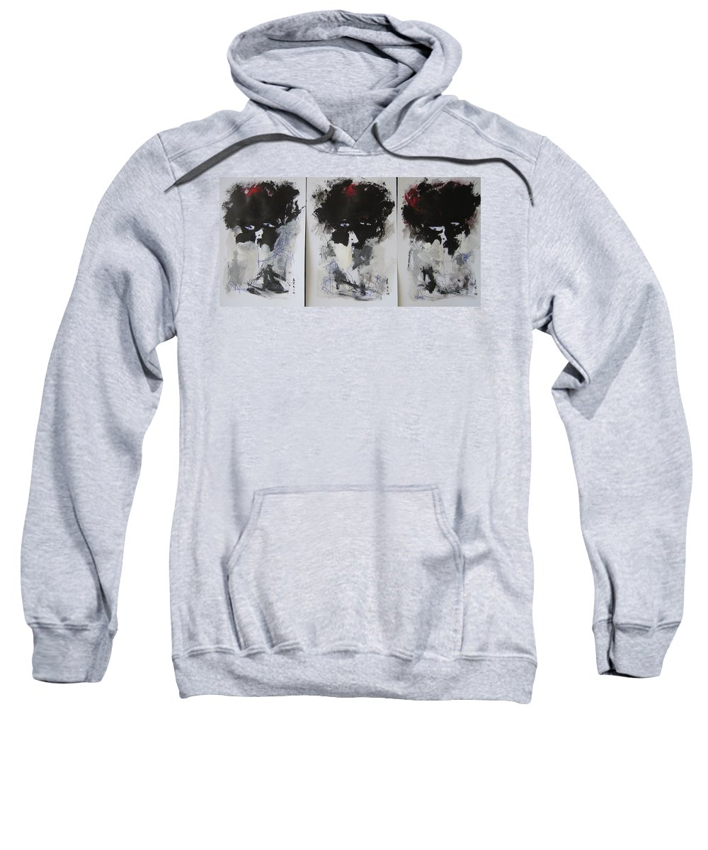 Original Sweatshirt featuring the painting Other Than 3 by Seon-Jeong Kim