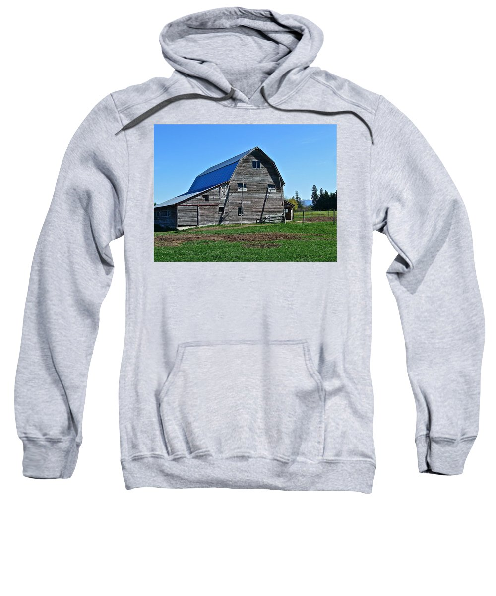 Barn Sweatshirt featuring the photograph Out Back by Diana Hatcher