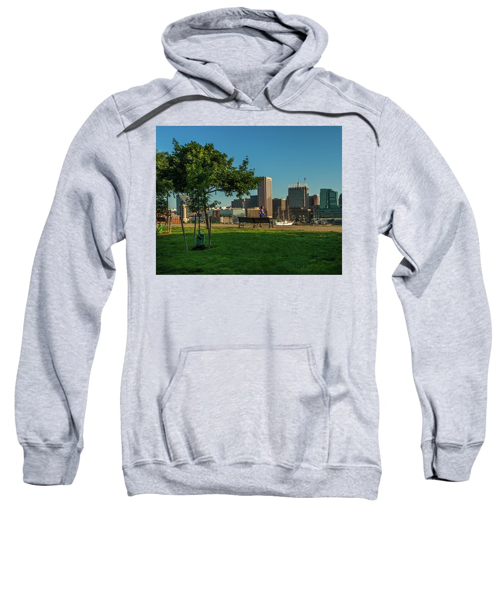 Baltimore Sweatshirt featuring the photograph Federal Hill Run by Jim Archer