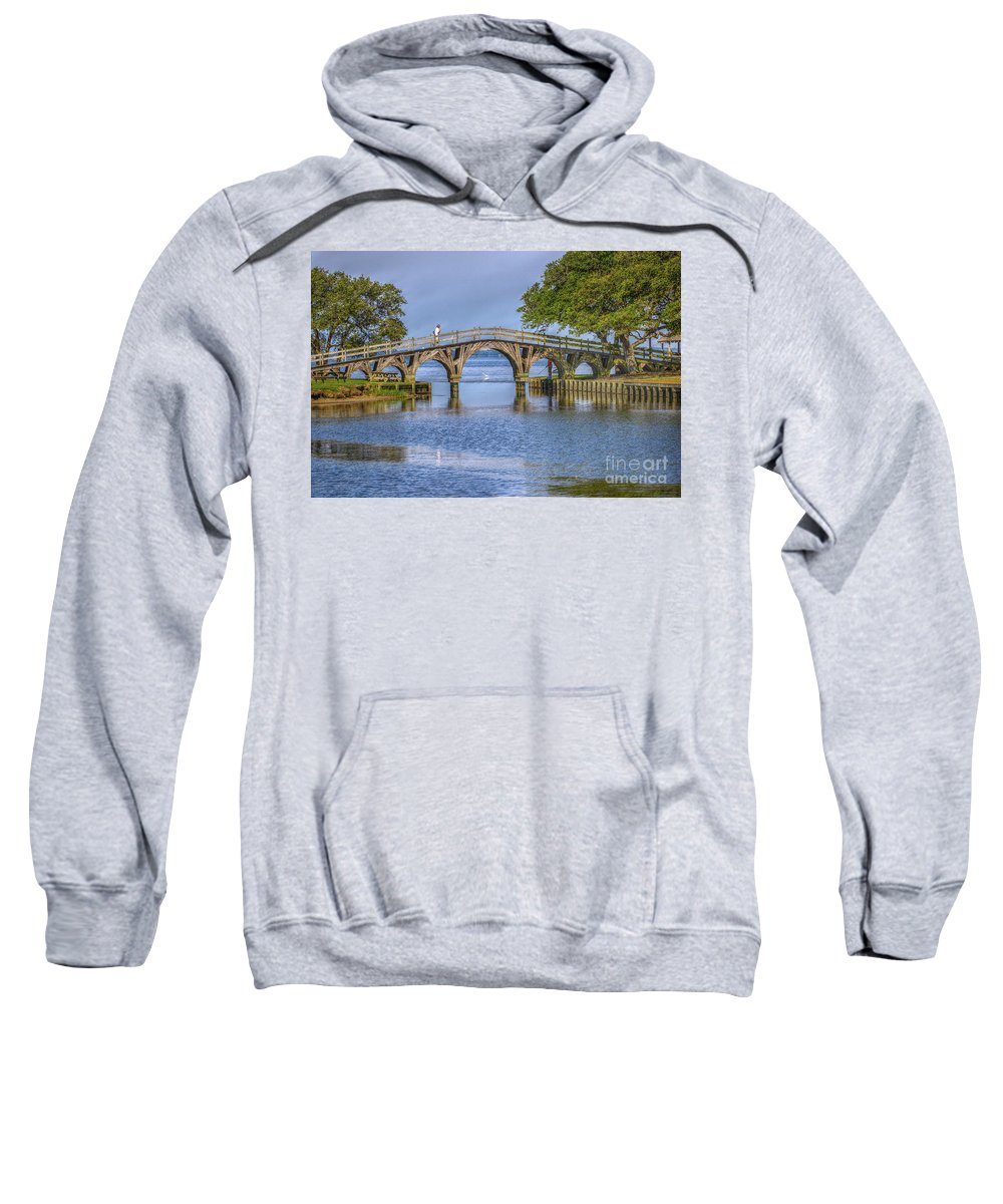 Summer Sweatshirt featuring the photograph Outer Banks Whalehead Club Bridge by Randy Steele