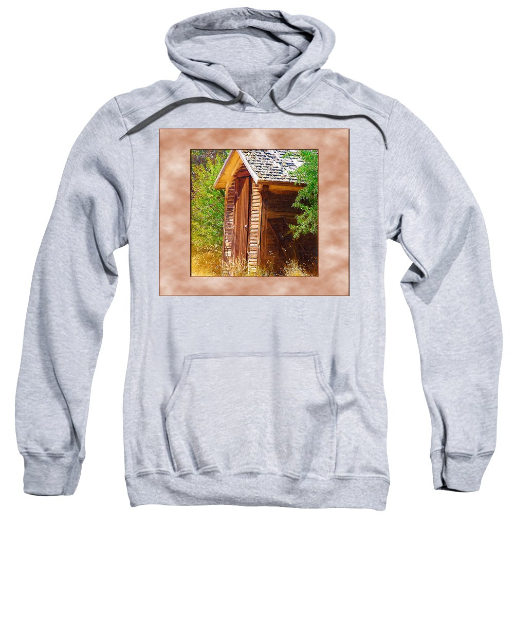 Outhouse Sweatshirt featuring the photograph Outhouse 1 by Susan Kinney