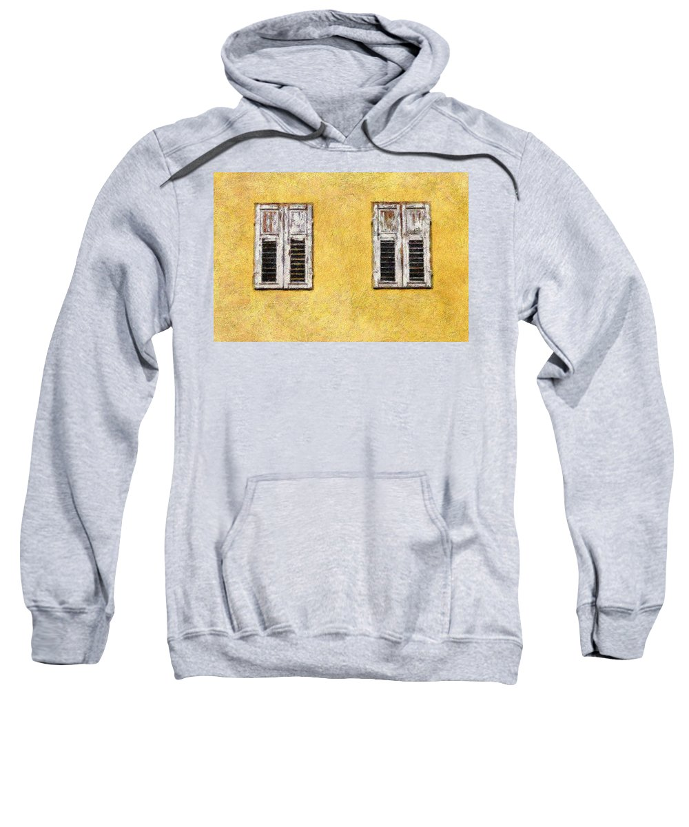 Windows Sweatshirt featuring the digital art Outside Looking In by Georgiana Romanovna