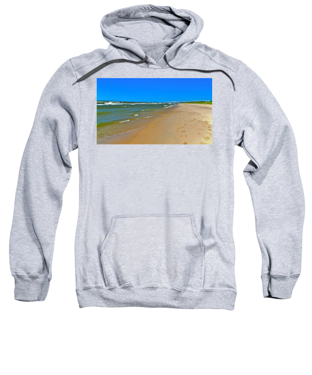 Sand Sweatshirt featuring the photograph Oval Park In The Sun by Robert Pearson