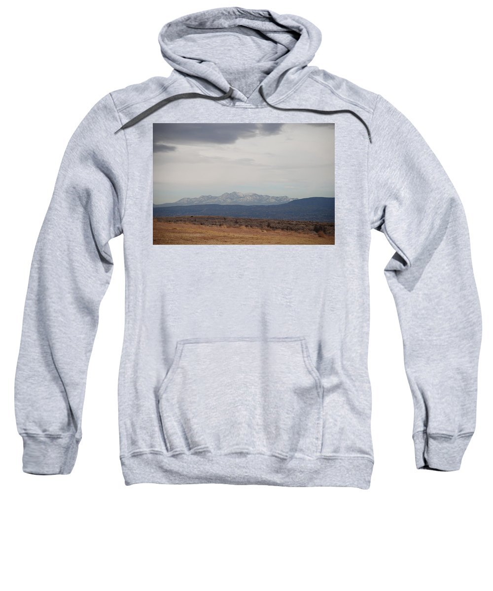 Mountains Sweatshirt featuring the photograph Overcast On The Sandias by Rob Hans