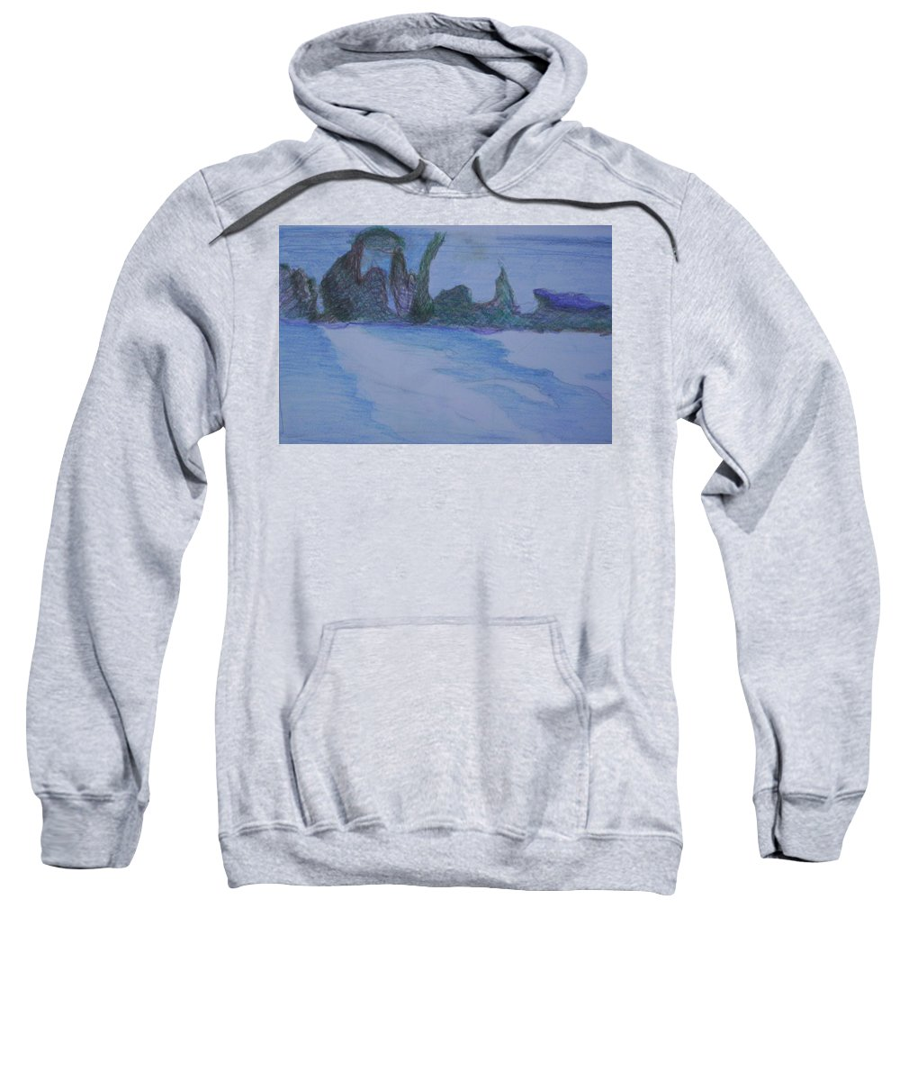 Abstract Painting Sweatshirt featuring the painting Overlap by Suzanne Udell Levinger