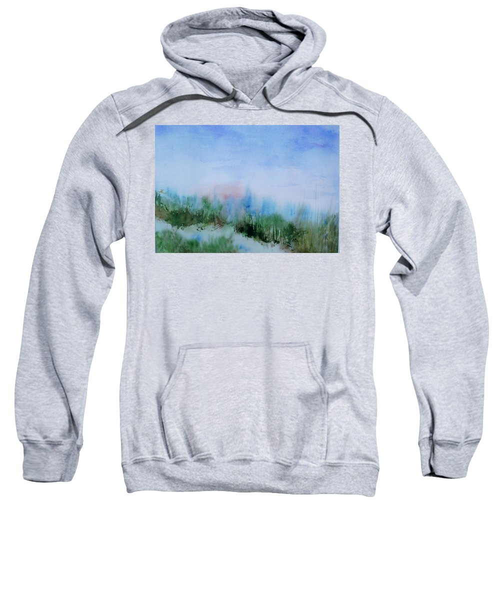Landscape Sweatshirt featuring the painting Overlook by Suzanne Udell Levinger
