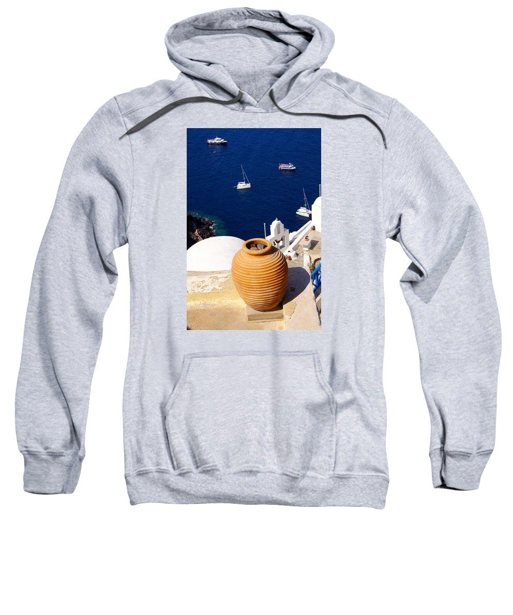 Sea Sweatshirt featuring the photograph Overlooking Sea by Ron Koivisto