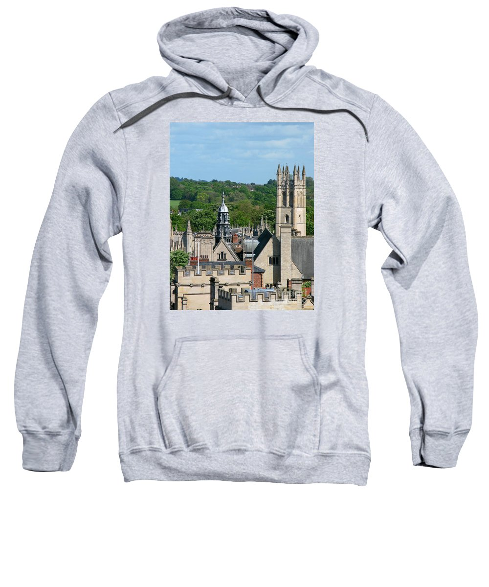 Oxford Sweatshirt featuring the photograph Oxford Tower View by Ann Horn